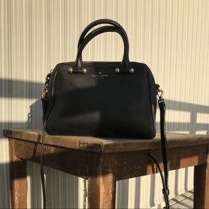 KATE SPADE Black Leather crossbody bag.